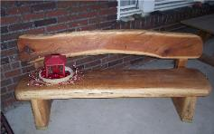 Red Elm Bench, Rustic, Live Edge, Nakashima style, Ted frumkin