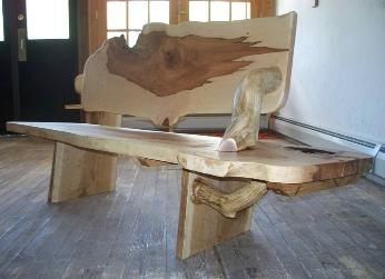 Hardwood Slab Bench, Ted Frumkin