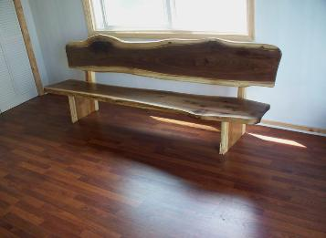 8' walnut Bench