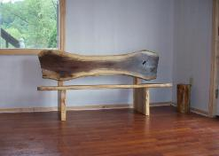 Rustic Walnut Bench