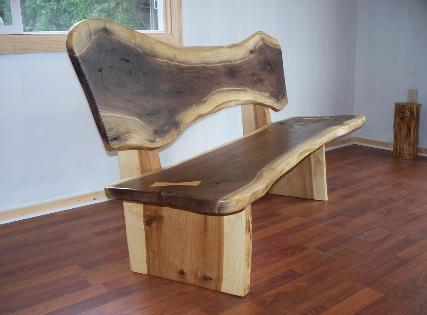 Walnut Slab Bench, Nakashima Style